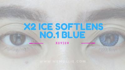 [review] X2 Ice Softlens No.1 Blue