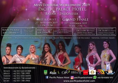 Ajang bergengsi Miss Tourism Worldwide 2019 digelar di Pacific Palace Hotel Batam