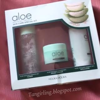 Review Holika-Holika Aloe Vera Skincare Special Kit