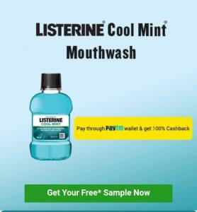 Free Sample Mouthwash – Get Listerine Cool Mint (Lybrate)