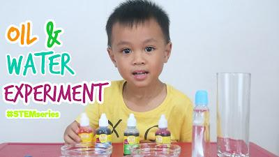 #HavingFunWithKhalid-1 : STEM Series Oil and Water Experiment (Video)