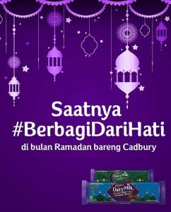 Berbagi Dari Hati dengan Cadbury
