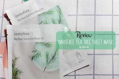 (Sheet Mask) Innisfree My Real Squeeze Mask Tea Tree, Calming Effectnya Ampuh!