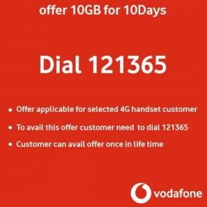 (Official) Vodafone 10GB Free 4G Net For 10 Days